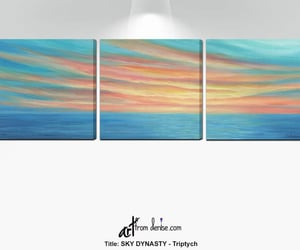 etsy, sunset painting, and laundry room art image