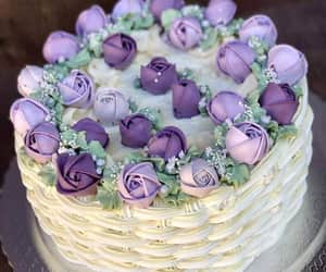 cake, flowers, and torta image