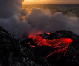 volcano, archive, and lava image