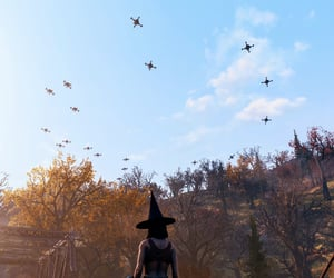 autumn, fallout, and witch image