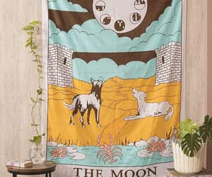 etsy, dorm room tapestry, and the moon tapestry image