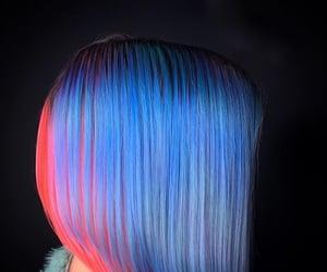 blue hair, pastel hair, and hair image