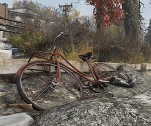 abandoned, bicycle, and rust image