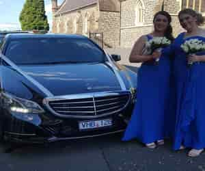 chauffeur link melbourne, wedding cars melbourne, and luxury wedding cars image