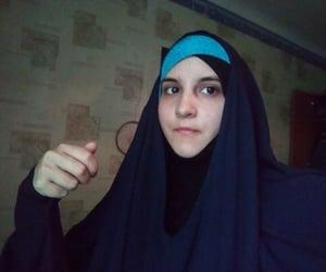 girl, muslim, and jilbab image