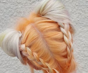 braids, cabello, and buns image