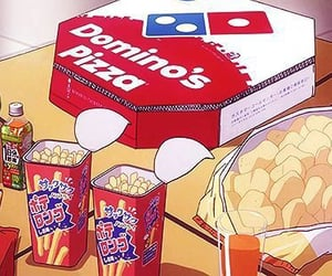anime, food, and pizza image