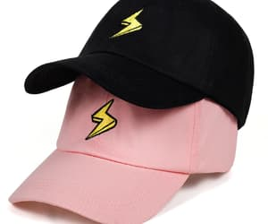 cap, print, and lightning image