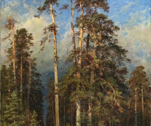 forest, painting, and russian art image