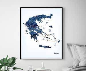 etsy, greek art, and large map print image