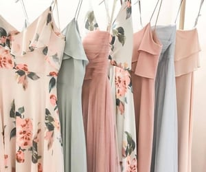 dresses, fashion, and floral image