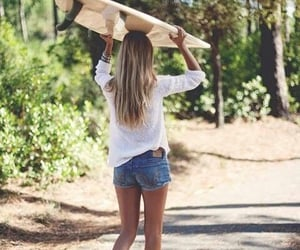 beach, surfing, and summer image