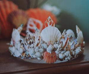 beach, crown, and girly image