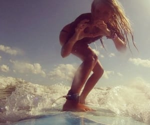 marine, summer, and surfing image