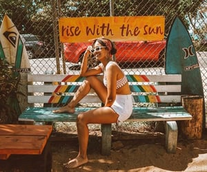 girl, summer, and sunrise shack image