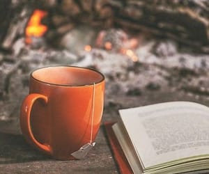 book, fall, and coffee image