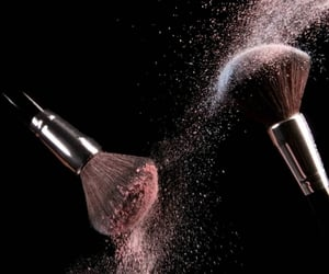 beauty, photo, and makeup brushes image