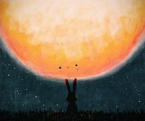 moon and rabbit image