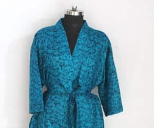 dressing gown, oriental kimono, and indian silk robe image