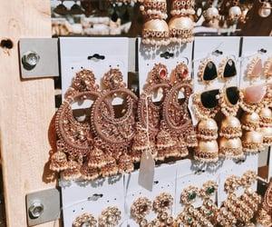 aesthetic, earrings, and india image