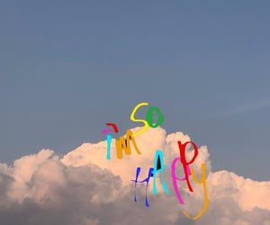 clouds and happy image