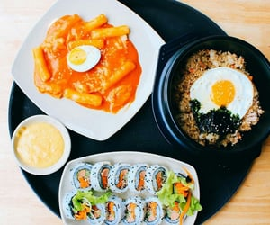 aesthetic, colorful, and korean food image