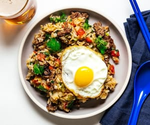 dinner, food, and rice image