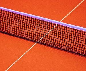orange, aesthetic, and tennis image