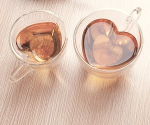tea, heart, and drink image