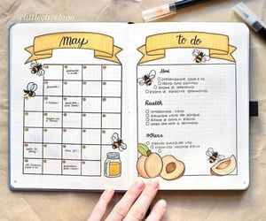 bullet journal, school, and book image