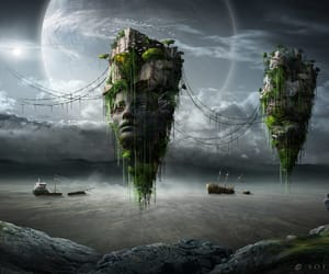 abandoned, landscape, and alien image