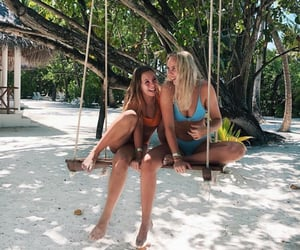 beach, bikinis, and fashion image