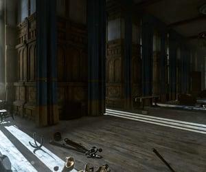 abandoned, hallway, and castle image