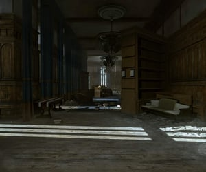 castle, curtains, and dishonored image