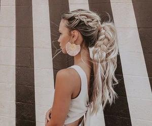 belleza, trenza, and hair image