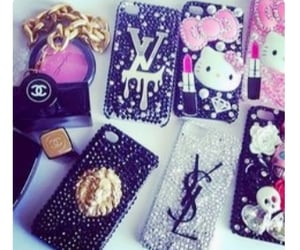 bling, cellcases, and chanel image