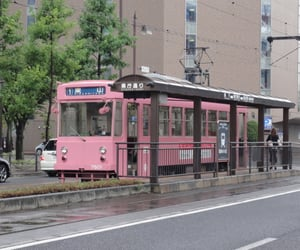 pink, bus, and japan image
