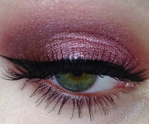 eyes, makeup, and pink image