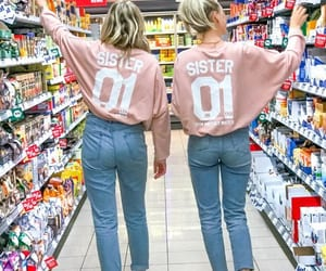 best friends, outfits, and sisters image