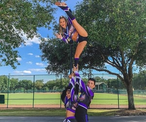 cheer, sport, and cheerleader image