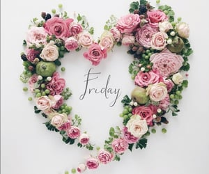 flowers, friday, and happy day image
