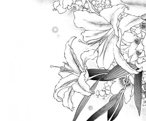 anime, flowers, and lillies image