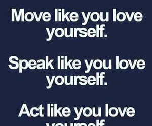 quote, yourself, and love image