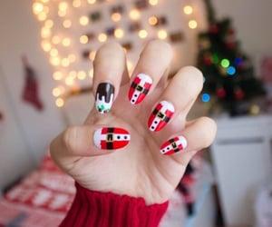 christmas, nails, and tumblr image