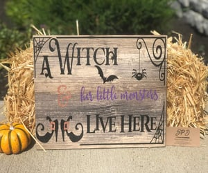 etsy, witch art, and Halloween image