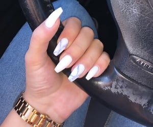 acrylics, Nagel, and nails image