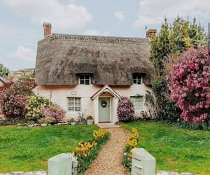 house, cottage, and home image