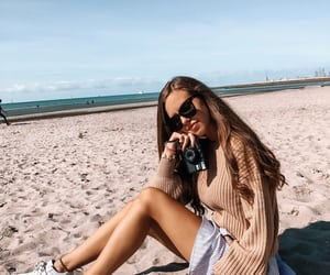 beach, goals, and photography image
