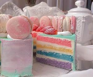 beautiful, pastel, and cake image