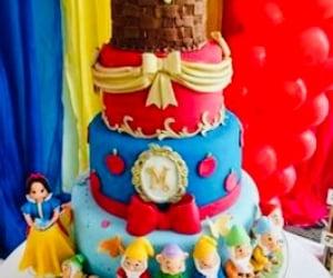 cake, snowwhite, and dwarfs image